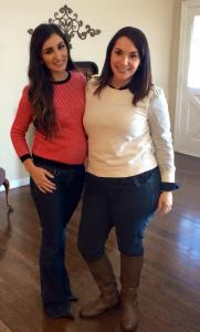 My prima and I during her visit...on my bday!
