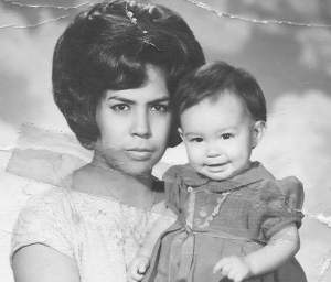My Abuelita and my mom. Taken in Juarez...that hair, though